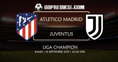 PREDIKSI BOLA - Pada tanggal 19 September 2019 nanti akan ada pertandingan antara ATLETICO MADRID Vs JUVENTUS Yang Di Gelar di Stadion Wanda Metropilitano