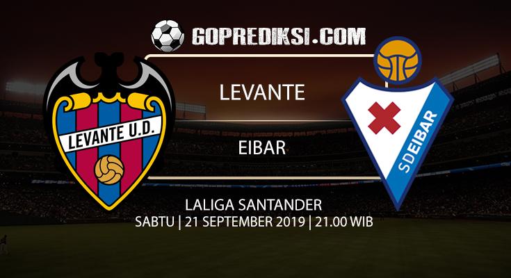 PREDIKSI BOLA - Pada tanggal 20 September 2019 nanti akan ada pertandingan antara LEVANTE Vs EIBAR Yang Di Gelar di Stadion Ciutat de Valencia.