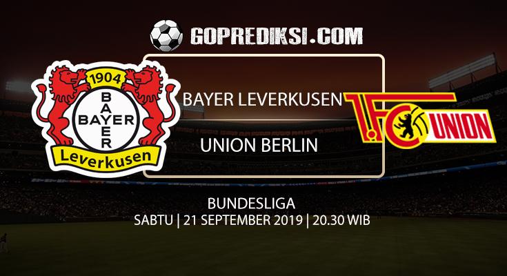 PREDIKSI BOLA - Pada tanggal 21 September 2019 nanti akan ada pertandingan antara BAYER LEVERKUSEN Vs UNION BERLIN Yang Di Gelar di Stadion BayArena.
