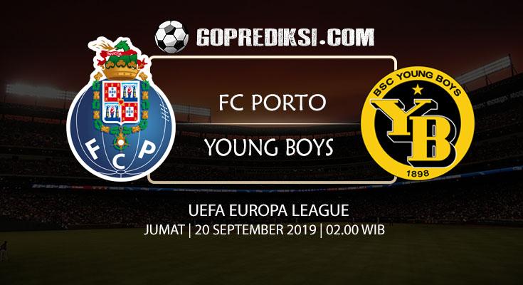 PREDIKSI BOLA - Pada tanggal 20 September 2019 nanti akan ada pertandingan antara PORTO Vs YOUNG BOYS Yang Di Gelar di Stadion Dragao.