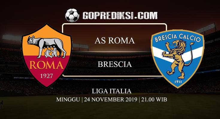 PREDIKSI BOLA AS ROMA VS BRESCIA 24 NOVEMBER 2019