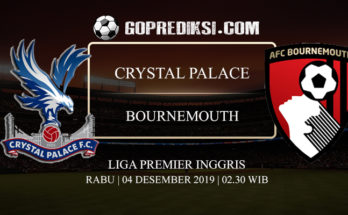 PREDIKSI BOLA CRYSTAL PALACE VS BOURNEMOUTH 04 DESEMBER 2019