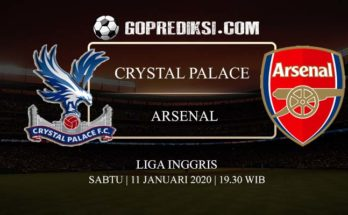 PREDIKSI BOLA CRYSTAL PALACE VS ARSENAL 11 JANUARI 2020