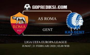 PREDIKSI BOLA AS ROMA VS GENT 21 FEBRUARI 2020