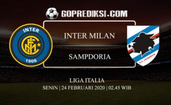 PREDIKSI BOLA INTER MILAN VS SAMPDORIA 24 FEBRUARI 2020