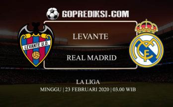 PREDIKSI BOLA LEVANTE VS REAL MADRID 23 FEBRUARI 2020