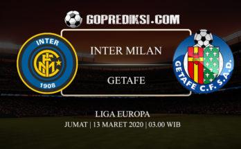 PREDIKSI BOLA INTER MILAN VS GETAFE 13 MARET 2020