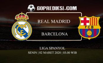 PREDIKSI BOLA REAL MADRID VS BARCELONA 02 MARET 2020
