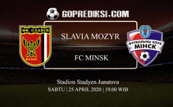 PREDIKSI BOLA SLAVIA MOZYR VS FC MINSK 25 APRIL 2020 1
