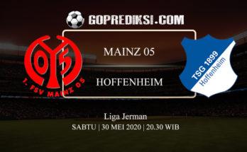 PREDIKSI BOLA MAINZ 05 VS HOFFENHEIM 30 MEI 2020
