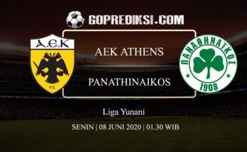 PREDIKSI BOLA AEK ATHENS VS PANATHINAIKOS 08 JUNI 2020 1