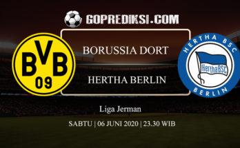 PREDIKSI BOLA BORUSSIA DORTMUND VS HERTHA BERLIN 06 JUNI 2020 1