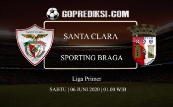 PREDIKSI BOLA SANTA CLARA VS SPORTING BRAGA 06 JUNI 2020 1